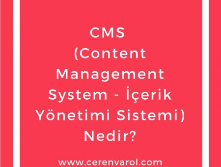 CMS (Content Management System – İçerik Yönetimi Sistemi) Nedir?