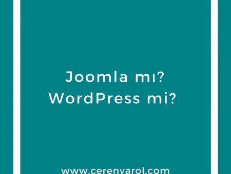 Joomla mı WordPress mi  / Joomla vs WordPress
