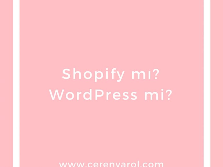 Shopify mı WordPress mi  / Shopify vs WordPress