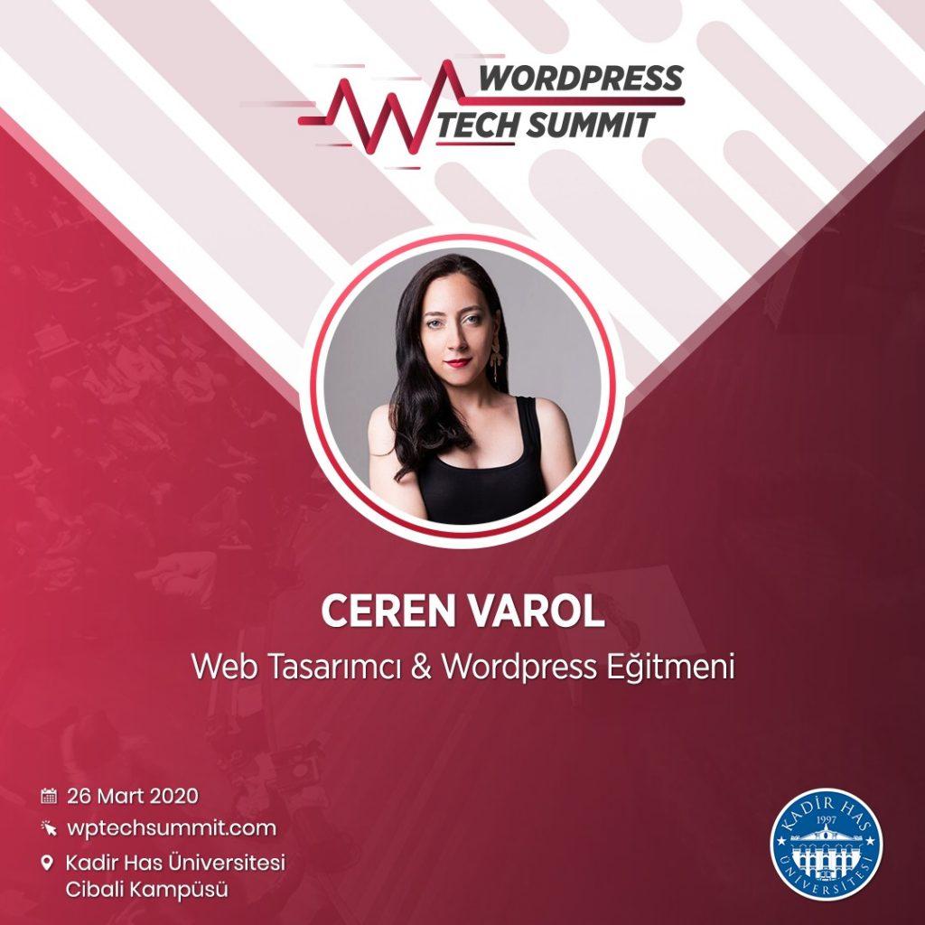 Ceren Varol - WPTech Summit - WordPress Etkinliği